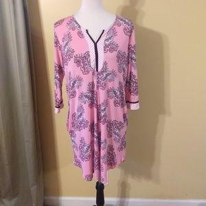 Ellen Tracy paisley night shirt gown sz medium